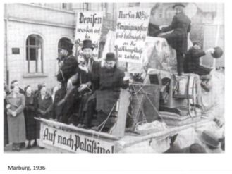 """Jews portrayed as """"laughing"""" in a Nazi parade"""